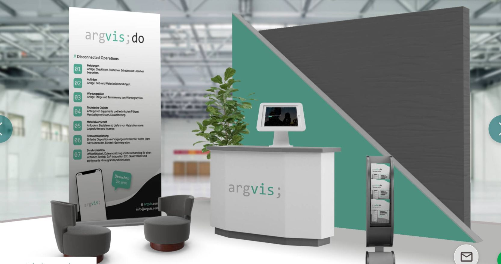 argvis; Messestand